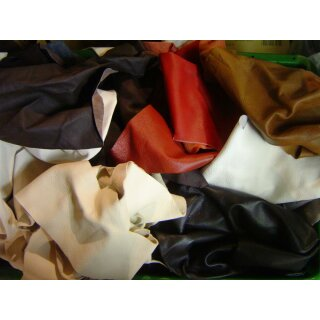 Ökoleder Stücke bunt gem. Stärke 1,0-1,2 mm ab 1 kg